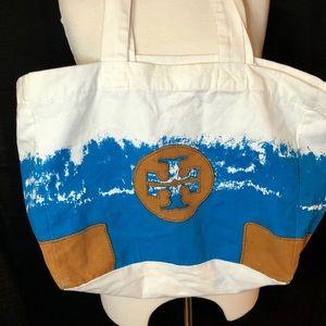 Tory Burch Canvas Tie Dye Logo Tote Bag